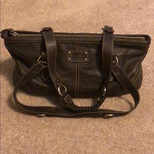 {the sak} brown leather shoulder bag